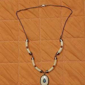 Handmade Precious stones antique necklace